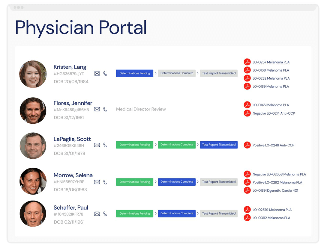 A screenshot of the Veloxity CRM for healthcare that enables marketing teams to be more effective for providers and physicians.